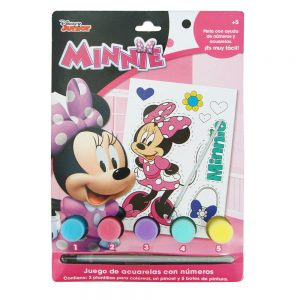 SET DE ACUARELAS CON PLANTILLAS MINNIE