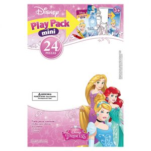 LIBRO PARA COLOREAR MINI PLAY PACK PRINCESAS