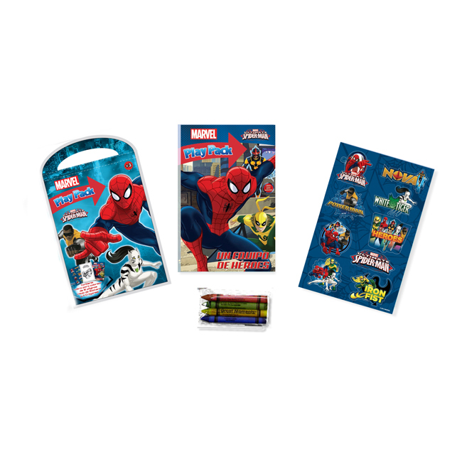 LIBRO PARA COLOREAR PLAY PACK SPIDERMAN – GAIRET