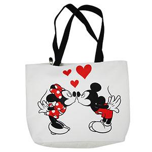 BOLSA DE MANTA GRANDE MINNIE & MICKEY