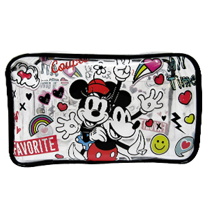 COSMETIQUERA TRANSPARENTE «MICKEY AND MINNIE»